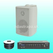 """Adastra 120W Outdoor Restaurant Music PA Public Address System 5"""" Wall Speakers"""