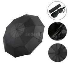 TOMSHOO Auto Open/Close Umbrella Large Vented Double Canopy Golf Umbrella M6Z1