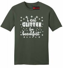 I Eat Glitter For Breakfast Funny Mens Soft T Shirt Cute Gift Graphic Tee Z2