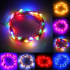 5M 50LED String Fairy Light Battery Operated Xmas Lights Party Wedding Decor PY