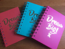 DREAM BIG! Notebook Harback A6 Bright Note Book Jotter Spiral Bound Lined