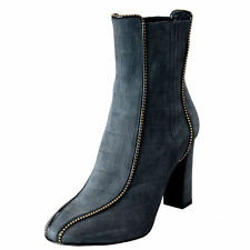 Just Cavalli Women's Gray Suede High Heel Ankle Boots Shoes Sz 6 11