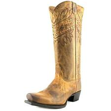 Tony Lama VF3043 Women  Square Toe Leather Brown Western Boot