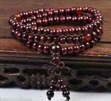 6mm Sandalwood Buddhist Buddha Prayer Beads Mala Bracelet Necklace 108pcs W222