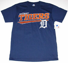 Detroit Tigers T-Shirt Adult size Medium or Large Navy New w/Tag