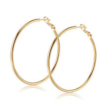 Vintage Basketball Wives jewelry Classic Big Round Fashion Silver Hoop Earrings