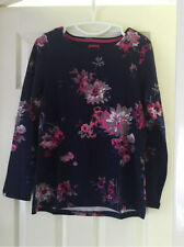New joules harbour print navy floral jersey top sz UK 10 12 14 16 18 20