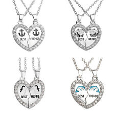 1 Set Necklace Best Friends Silver-plated Necklace Friendship Fashion Jewelry SE