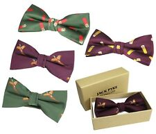 Jack Pyke Shooters Bow Tie Mens Dickie Ties Shotgun Cartridge & Pheasant Design