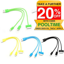 Micro USB/30 8 Pin charging charge cable for iPhone 4 4S 5 5S 5C 6 iPod Galaxy