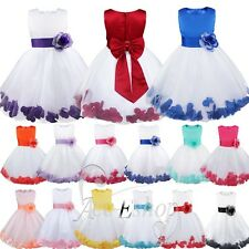 Pageant Flower Birthday Formal Party Wedding Bridesmaid Graduation Girls Dresses