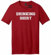 Drinking Shirt Mens V-Neck T Shirt College Party Tee Adult Humor St Pattys Party