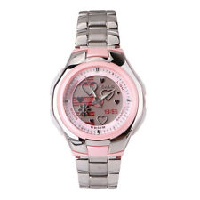 Casio Pink Face Poptone Ladies Analog Casual Silver Watch LCF-10D-4A