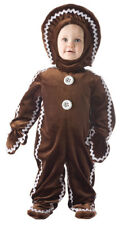 Gingerbread Infant Costume Brown Hooded Outfit Halloween Underwraps Toddler