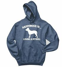 Happiness Is Loving A Pitbull Sweatshirt Bully Pitt Lover Dog Gift Hoodie