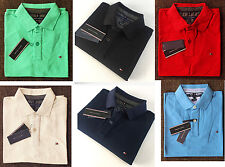 NWT Tommy Hilfiger Polo Shirt Mens Classic Cutom Fit Solid Short Sleeve