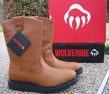 "NEW Mens Wolverine ""EXCESS"" Leather Durashocks Wellington Work Boots W04695"