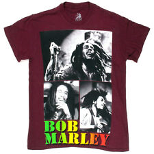 Zion Rootswear Bob Marley Collage Tee (Maroon) Men's Short Sleeve T-Shirt