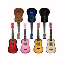 """23"""" Beginners Practice Acoustic 7 Colors Guitar 6 String Children Kids with Pick"""