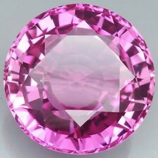 AAA Rated Round Bright Pink Lab Created Pink Sapphire Gemstones (5mm-20mm)