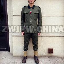 WW2 WWII GERMAN SUMMER M36 SOLDIER UNIFORM TUNIC & BREECHES SUITS