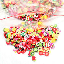 Stylish 1000x3D Mix Tiny Fimo Nail Art Polymer Clay Slices Nail Tips CA