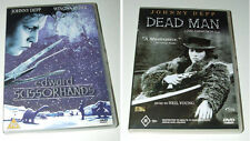 Johnny Depp dvds - DEAD MAN - Edward Scissorhands VGC