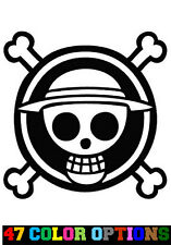 Decal Vinyl Truck Car Sticker - Anime One Piece Skull And Crossbones