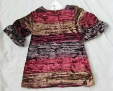PEEK baby girls striped crushed velvet Metropolitan dress reds fancy holiday NEW