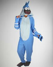 Regular Show Mordecai Hooded Footed Adult Pajama Licensed Union Suit S-XXL