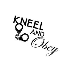Decal Vinyl Truck Car Sticker - Sexy Hot Women Girl Adult Pinup Kneel And Obey