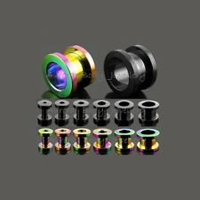 Screw-Fit Flesh Tunnel - Titanium Anodised - Ear Plug Stretcher Expander