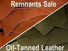 REMNANTS SALE: One to 15 Pounds of 5-6oz OIL-TANNED LEATHER PIECES (NO Returns)