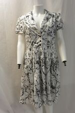 Moschino Cheap and Chic white and black floral fit and flair dress  - Size 12