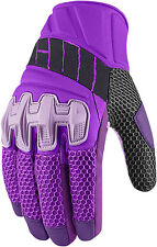Icon Overlord Womens Mesh Gloves Purple