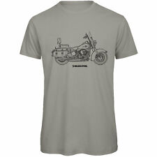 Harley Davidson Heritage Softail Classic Inspired Motorcycle Art Men's T-Shirt