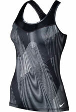 NEW Womens M NIKE Pro Hypercool Frequency Racerback BLACK Tank Top Tennis Run