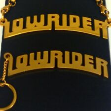 LOWRIDER MAGAZINE OFFICIAL OG CHOLO LUXURY GOLD PLATED Chain + key chain SET