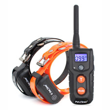 Pet Dog Training Collars Shock Electric Bark Waterproof Rechargeable LCD Remote