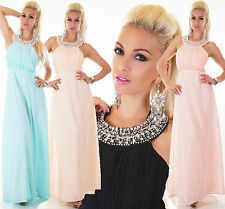 NOBLE SEXY LONG CHIFFON MAXI DRESS COCKTAIL EVENING PARTY SPECIAL OCCASION BALL