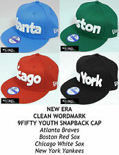 NEW ERA CLEAN WORDMARK YOUTH 9FIFTY SNAPBACK CAP - BRAVES/RED SOX/WHITE SOX/NY