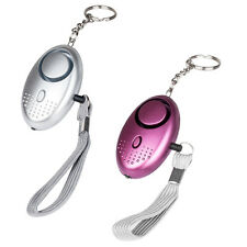 Silver 140db Personal Panic Rape Attack Safety Keyring Alarm Torch