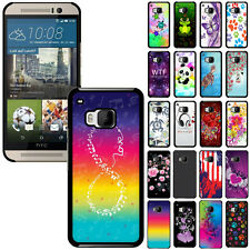 For HTC One M9 Slim Various Stylish Design Protector Hard Back Case Cover Skin