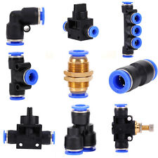 32 Size Pneumatic Push In Fittings Air Valve Water Hose Pipe Connector Joiner TP