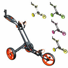 *NEW* MASTERS iCART ONE 3 WHEEL ONE CLICK PUSH TROLLEY (CHOICE OF COLOURS)