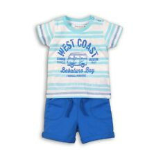 Baby Boys West Coast T-Shirt & Blue Shorts Outfit by Babaluno (0-18 Months)