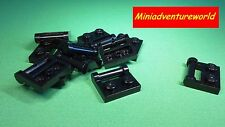 LEGO NEW Black Plate Modified 1 x 2 Handle on Side 48336 pack 2, 8 or 16