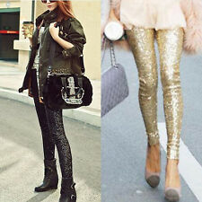 Women's Clubwear Sequins Leggings Skinny Stretchy Hot Come Slim Paillette Pants