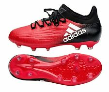 Adidas Men Cleats X 16.2 FG Techfit Soccer Football Red Shoes Boots GYM BB5632