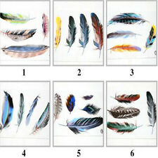 Pick Reflective Car Window Waterproof Beauty Colorful Decal Car feather stickers